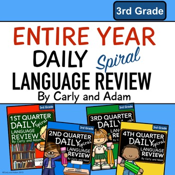 3rd Grade Daily Language Review Entire Year Bundle