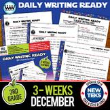 3rd Grade Daily Language Review for December New ELA TEKS