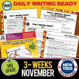 3rd Grade Daily Language Review for November New ELA TEKS