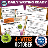 3rd Grade Daily Language Review for October New ELA TEKS