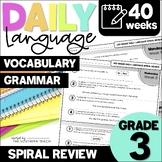 3rd Grade Daily Language Warmup | Digital Grammar Activities