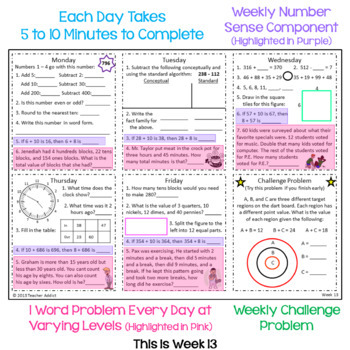 3rd Grade Daily Math Morning Work - 2nd Quarter