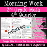3rd Grade Daily Math Morning Work - 4th Quarter