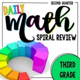 3rd Grade Daily Math Spiral Review - Morning Work for Weeks 10-18