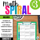 3rd Grade Daily Math Spiral Review - Morning Work for Weeks 19-27