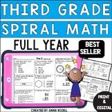 3rd Grade Math Spiral Review | Digital and Printable