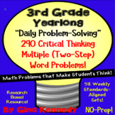 3rd Grade Daily Math Problem Solving, 290 Multi-Step Word Problems! All Year!