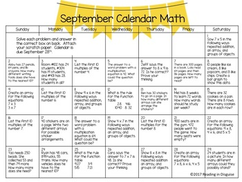 Problem of the Day:  September