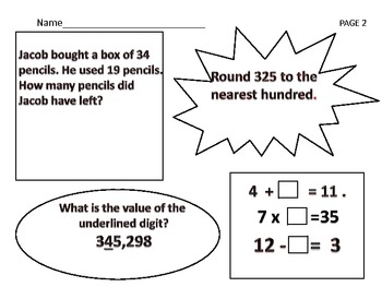 3rd Grade Daily Math Review Worksheets(Please Follow ME)