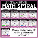 3rd Grade Daily Math Spiral (Bundle)