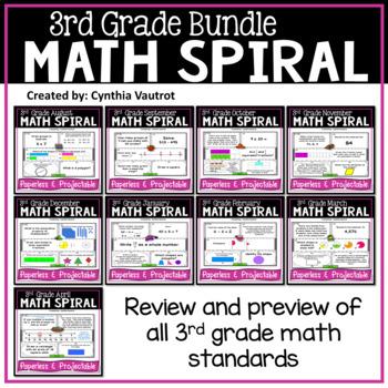3rd Grade Daily Math Spiral Bundle By Cynthia Vautrot Tpt