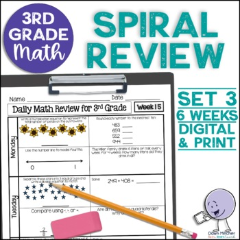 3rd Grade Morning Work | 3rd Grade Spiral Math Review | Set 3 (6 weeks)