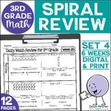 3rd Grade Morning Work | 3rd Grade Spiral Math Review | Set 4 (6 weeks)