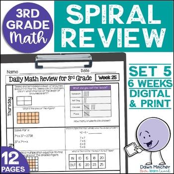 3rd Grade Morning Work | 3rd Grade Spiral Math Review | Set 5 (6 weeks)
