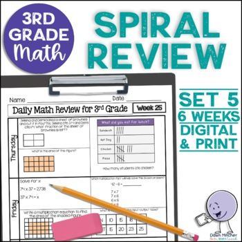 3rd Grade Daily Math Spiral Review * Common Core Aligned *
