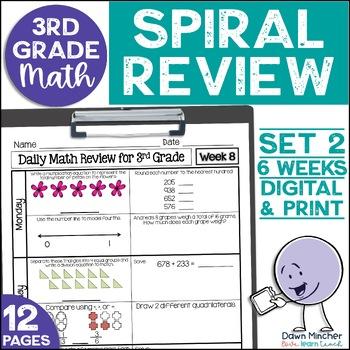 3rd Grade Morning Work | 3rd Grade Spiral Math Review | Set 2 (6 weeks)