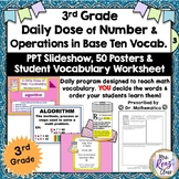 Math Word Wall (3rd Grade) NUMBER and OPERATIONS BASE TEN - PPT Slideshows