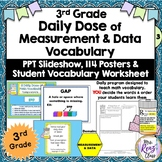 Math Word Wall (3rd Grade) MEASUREMENT & DATA plus PPT Slideshow