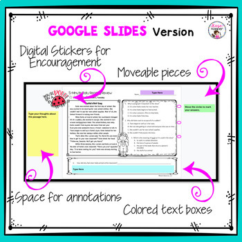 3rd Grade Daily Reading Comprehension Spiral Review Bundle - Distance Learning