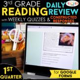 3rd Grade Reading Comprehension   Google Classroom Distanc