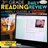 3rd Grade Daily Reading Review & Quizzes | Google Forms | Google Classroom