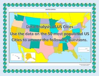 3rd Grade Data Anaylsis using US Cities Population Data