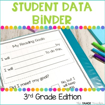 3rd Grade Data Binder for Reading and Math