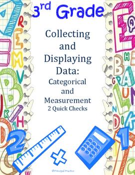3rd Grade Data Collection Quick Checks