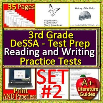 3rd Grade DeSSA Test Prep ELA Practice Tests #2 - Smarter ELA