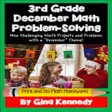 3rd Grade December Math Projects, Problem-Solving