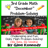 3rd Grade December Problem Solving: Daily Multi-Step (Two-Step) Math Problems