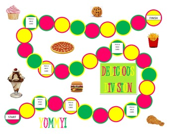 3rd Grade Delicious Division Game for Common Core