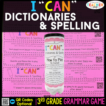 3rd Grade Spelling and Using Dictionaries Game