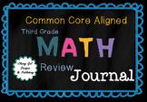 3rd Grade  Math Journal for Summer Review