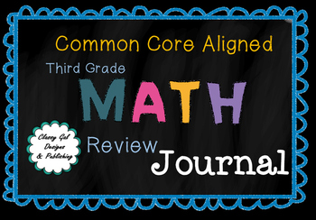 3rd Grade  Math Journal for Summer Review