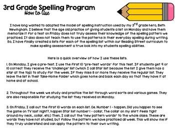 3rd Grade Differentiated Spelling Program Unit 2 - Reading Street Aligned