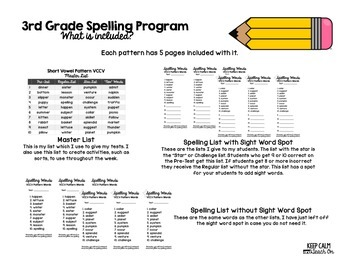 3rd Grade Differentiated Spelling Program Unit 3 - Reading Street Aligned
