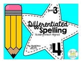 3rd Grade Differentiated Spelling Program Unit 4 - Reading Street Aligned
