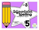3rd Grade Differentiated Spelling Program Unit 5 - Reading