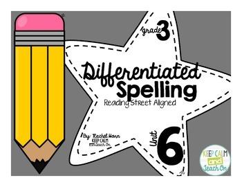 3rd Grade Differentiated Spelling Program Unit 6 - Reading