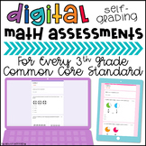 3rd Grade Digital Math Assessments (Self-grading)