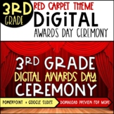 3rd Grade Digital Awards PowerPoint | Red Carpet Theme | Distance Learning