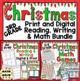 3rd Grade Digital Christmas Reading, Writing, and Math Activities