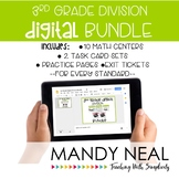 3rd Grade Digital Math Division Bundle   Distance Learning