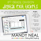 3rd Grade Digital Exit Slips for Division