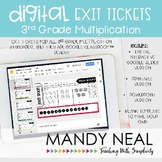 3rd Grade Digital Exit Slips for Multiplication