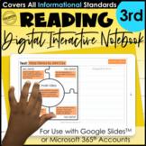 3rd Grade Digital Interactive Notebook   Mentor Text Readi
