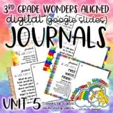 3rd Grade Digital Journal: Wonders Unit 5 Aligned Topics (
