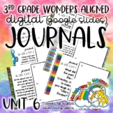 3rd Grade Digital Journal: Wonders Unit 6 Aligned Topics (