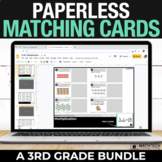 3rd Grade Digital Math Centers - Paperless Matching Cards
